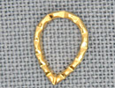 MH12021 - Open Faceted Teardrop Gold
