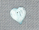 MH12069 - Medium Fluted Heart Aqua