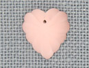 MH12072 - Frosted Starburst Heart Matte Rose