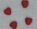 MH12088 - Med Channeled Heart Matte Ruby