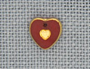 MH12093 - Small Engraved Heart Red/Gold