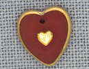 MH12094 - Medium Engraved Heart Red/Gold