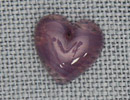 MH12099 - Medium Quartz Heart Purple