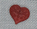 MH12114 - Medium Floral Embossed Heart Rose
