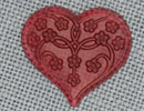 MH12115 - Large Floral Embosed Heart Rose