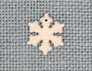 MH12161 - Small Snowflake Matte Crystal AB