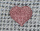 MH12182 - Med Floral Embossed Heart Pale Rose