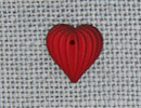 MH12207 - Med Fluted Heart Matte Ruby