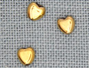 MH12246 - Small Channeled Heart Bright Gold