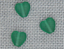 MH12276 - Channeled Heart Matte Emerald