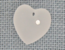 MH13050 - Large Frosted Heart Crystal